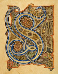"Gorgeous S in the medieval style from ""The Silmarillion""."