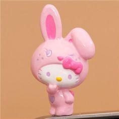 pink Hello Kitty bunny mobile phone plugy earphone jack