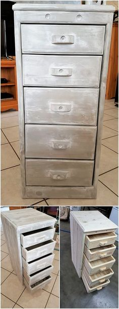 You will be finding this pallet chest of drawers design as much innovative looking and can come out to be the best ideas of the pallet to add up in your house right at this moment. You can superbly make it use as the purpose of storing important items in an organized way.