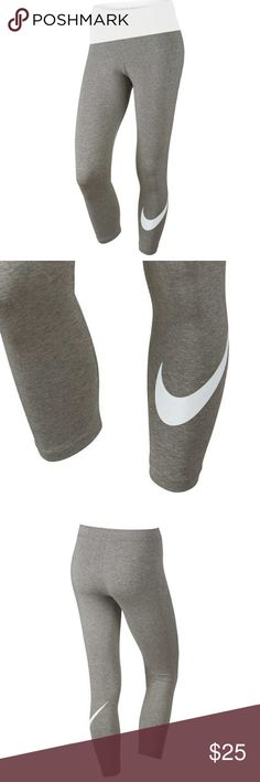 EUC NIKE GREY LEGGINGS. WORN ONCE EUC NIKE LIGHT GREY LEGGINGS SIZE MEDIUM WORN ONCE. Nike Pants Leggings