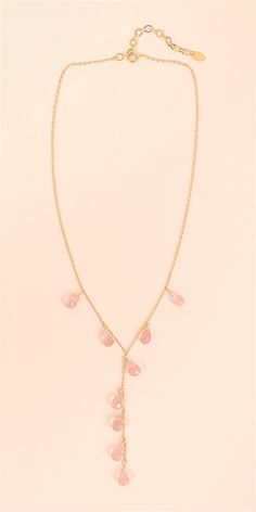 Drop Stone Necklace - CherryAll Jewelry and Accessories are Final Sale.