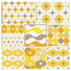 No photo description available. Modern Quilt Patterns, Quilt Block Patterns, Quilt Blocks, Patchwork Patterns, Circle Quilts, Mini Quilts, Square Quilt, Quilting Blogs, Free Motion Quilting