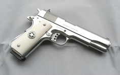 Ultimate Bright Stainless Government Model Ivory Grips With Texas Star ! I would really like to have this oneLoading that magazine is a pain! Get your Magazine speedloader today! http://www.amazon.com/shops/raeind