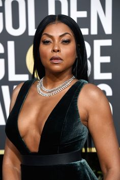 Taraji P. Henson Photos - Taraji P. Henson attends the Annual Golden Globe Awards at The Beverly Hilton Hotel on January 2019 in Beverly Hills, California. Black Is Beautiful, Pretty Black Girls, Beautiful Women, Black Celebrities, Celebs, Fashion Casual, Actrices Sexy, Black Actresses, Fashion Tips For Women