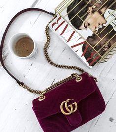 Gucci 'Marmont' velvet | pinterest: @Blancazh