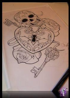 Skull Rose Tattoos, Girly Tattoos, Pretty Tattoos, Life Tattoos, Tatoos, Friend Tattoos, Corset Tattoo, 1 Tattoo, Chris Garver