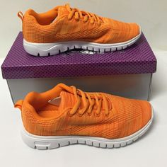 ❤️Host Pick❤️NWT Orange Fabric Fashion Sneakers Super comfy sneaker by MisBehave. Medium width and true to size. Misbehave Shoes Sneakers