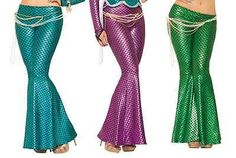 Mermaid Leggings Metallic Ariel Sexy Fish Tail Adult Womens Costume Holographic
