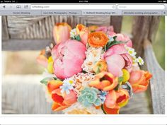 Bright colored bouquet option