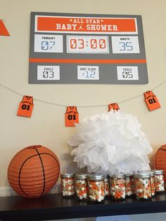 Basketball Lamb Baby Shower Decorations // Party Kit // Customizable Downloadable + Printable // by PaperConfete