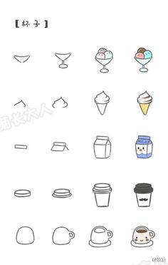 Cute Kawaii How to draw  food  X3