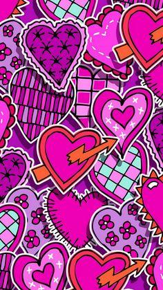 Love Pink Wallpaper, Crazy Wallpaper, Heart Wallpaper, Cellphone Wallpaper, Pattern Wallpaper, Sparkle Wallpaper, Banner Background Images, Heart Background, Wallpaper Shelves