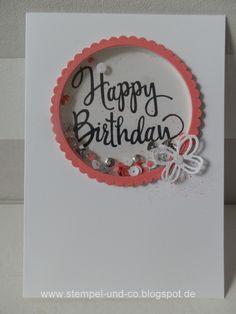 #Karten, #Schüttelkarte, #Shakercard, #stampinup, #Geburtstag, #birthday, #papierträumeundstempelliebe, Papierträume & Stempelliebe: Happy Birthday, geschüttelt