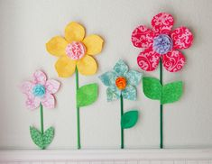 Wall Flowers Decor 3d flower wall decor. girls room wall decal. fabric wall flowers