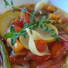 "Classic Minestrone....""This famous Italian soup has been much imitated around the world with very different results. The homemade version is a delicious revelation and is also extremely healthy, as it has pasta, beans and fresh vegetables. Try to make the minestrone a day early and refrigerate as this improves the flavors. Serve with grated Parmesan cheese and chopped fresh parsley."""