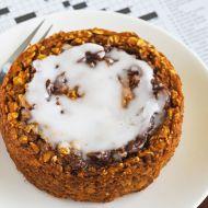 Pumpkin Cinnamon Roll Baked Oatmeal | The Breakfast Drama Queen