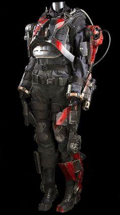 Emily Blunt Edge of Tomorrow Rita Vrataski EXO Suit costume
