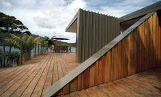 Purotu Beach House by architect Davor Mikulcic, Studio MWA. COLORSTEEL® Maxx® prepainted steel in Thunder Grey, by Steel and Tube, Christchurch. New Zealand Houses, Steel Roofing, Metal Roof, Beach House, House Plans, New Homes, Exterior, House Design, Studio