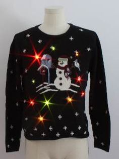 Snowman Lightup Ugly Christmas Sweater!!