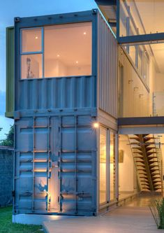 Architect Maria Jose Trejos has designed Casa Incubo, a home made from eight shipping containers, that serves as both a residential space and workspace.