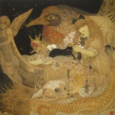 "Masaaki Sasamoto - ""世界のはずれに棲むわれら"" (""We Who Live on the Edge of the World,"" as best as I can tell from Google Translate.)"