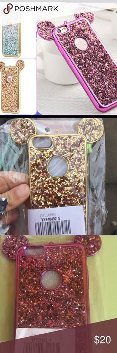 Sparkle IPhone case Beautiful Mickey Mouse iPhone case.. actual product photos and client selfies included in pics Accessories Phone Cases
