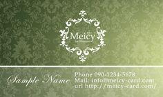 上品ヨーロピアンアンティークのおしゃれ名刺デザイン - 【名刺・ショップカード作成】女性デザインの可愛い名刺・ショップカード作成注文「Meicy」メイシー