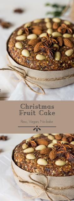 #raw #vegan Christmas Fruit Cake from Deviliciously Raw