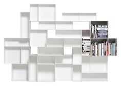 Scopri Libreria Alma Large -L 260 x H 180 cm, Bianco di Casamania
