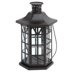 """One of my favorite discoveries at ChristmasTreeShops.com: 7.75""""x13"""" Hexagon Metal Candle Lantern"""