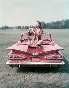Pink Car. We had a white one and I have a picture of me on it similar to this