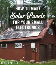 How to Make Solar Panels for Your Small Electronics | Energy and Power | DIY Solar Power Tutorials, Ideas and Tips at pioneersettler.com #DIYSolarPanels