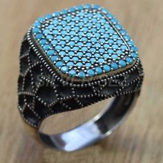 925 sterling silver turkish handmade men ring ottoman jewelery