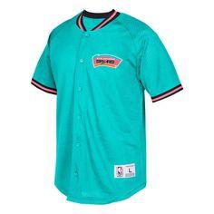 83e5dacc4fbc San Antonio Spurs Mitchell   Ness Seasoned Pro Mesh Button-Up Shirt - Aqua