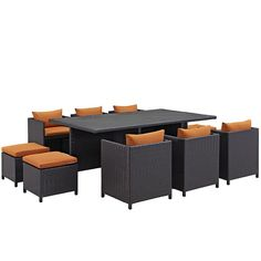 Reversal 11 Piece Outdoor Patio Dining Set EEI-644