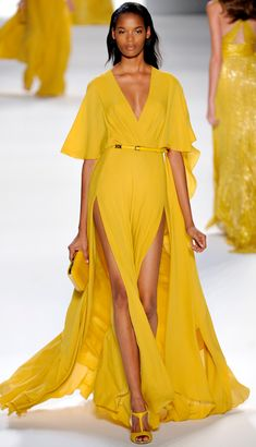 Elie Saab; love this yellow.