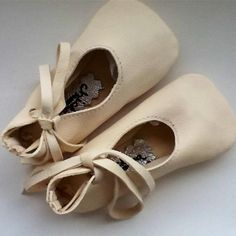 NYC-Made Ivory Lambskin Baby Ballet Shoe