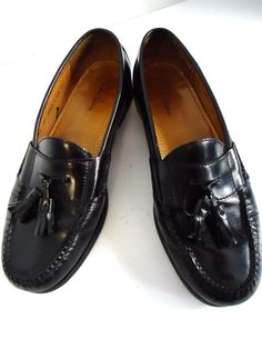 Cole Haan Leather Moccasin Tassle Dress Loafers Footwear Mens Used Shoes  9.5D