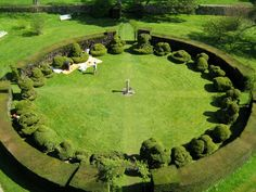 The conservation work at the historic garden at Chastleton House.