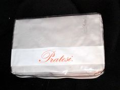 JUST REDUCED! Pratesi 4 Will be relisted at a higher price. PC Pale Gray Sheet Set Queen NWT 300 TC Made in Italy Pratesi Monogram