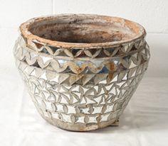 A Large Mirrored Mosaic Vase image 2