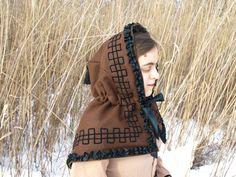 My new winter hood Hood Pattern, War Bonnet, Hat Hairstyles, Character Outfits, Historical Clothing, Winter Wear, Delaware, Fun Stuff, Hoods