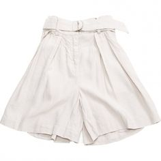 Pre-owned Isabel Marant Beige Viscose Shorts (26.895 HUF) ❤ liked on Polyvore featuring shorts, beige, women clothing shorts, rayon shorts, zipper pocket shorts, elastic shorts, zipper shorts and high rise shorts