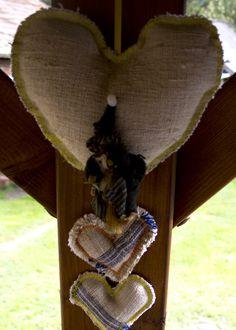 handmade linen textile heart