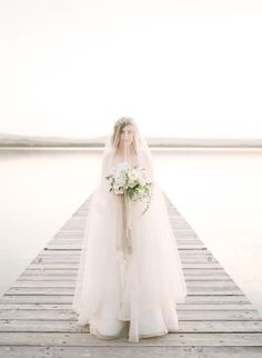 Photography: Stephanie Mballo Photography - www.stephaniemballo.com   Read More on SMP: http://www.stylemepretty.com/2016/04/19/ethereal-wedding-inspiration-complete-with-dockside-romance/