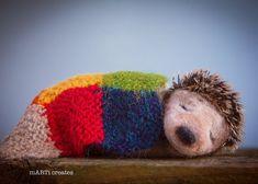 #teddy #hedgehog #felting Felting, Hedgehog, Projects To Try, Creative, Felt Fabric, Hedgehogs