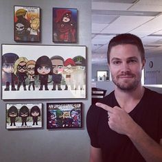 This Guy Thanks @arrowwriters for sharing this pic!! Looking very much forward to what you all have cooking up for Season 5!! @stephenamell @cw_arrow #lordmesaart