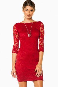 Lenka Dress in Red