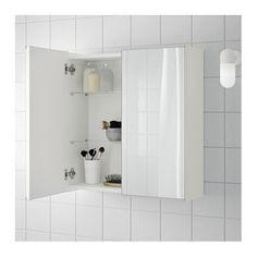 LILLNGEN Mirror Cabinet With 2 Doors White 60x21x64 Cm Ikea MirrorBathroom