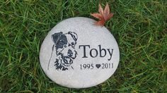 Our pet memorial products include pet grave markers and pet memorial stones